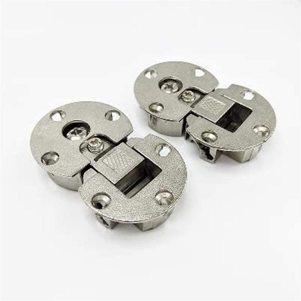 Lot Of 2 Semi-circular Inset concealed hinge 2 Hinges /& 1 Price Fast Shipping