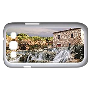 Waterfalls Of Saturnia (Houses Series) Watercolor style - Case Cover For Samsung Galaxy S3 i9300 (White)