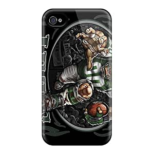 Scratch Protection Hard Cell-phone Cases For Iphone 4/4s (nMY19648iuys) Provide Private Custom HD New York Jets Skin
