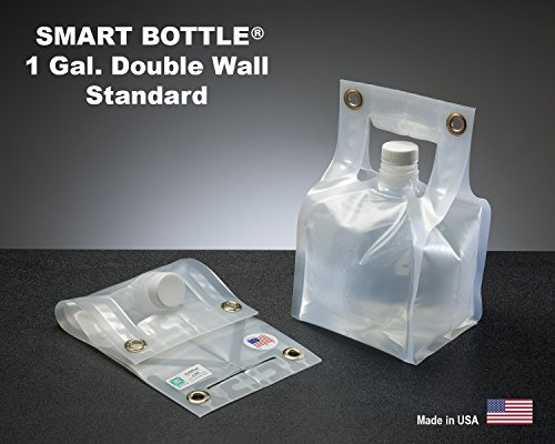 Smart Bottle 1 Gallon Collapsible Water Container with a Standard Cap. The only double wall flexible container designed for rugged, heavy use. BPA Free
