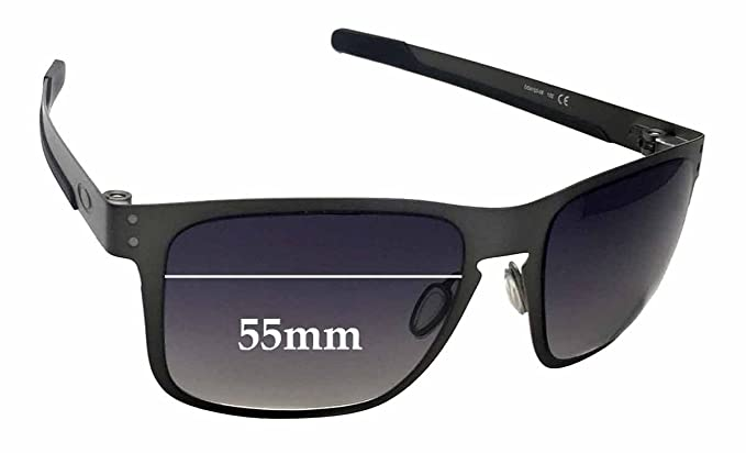 6a0bf5c1a1 Amazon.com  SFx Replacement Sunglass Lenses fits Oakley Holbrook Metal  OO4123 55mm Wide (Polycarbonate Clear Hardcoat Pair-Regular)  Clothing
