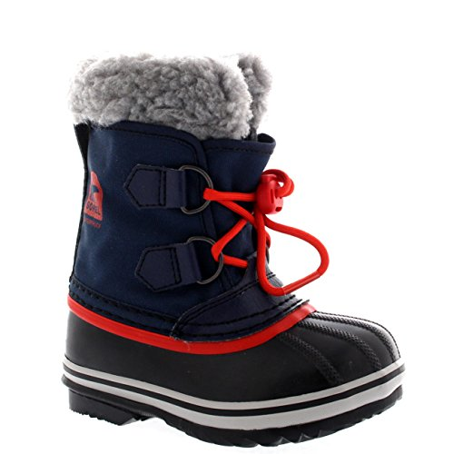 SOREL Unisex Kids Youth Yoot Pac Nylon Waterproof Snow Warm Rain Winter Boots - Collegiate Navy - 4.5/36 (Winter Pac Yoot Boots)