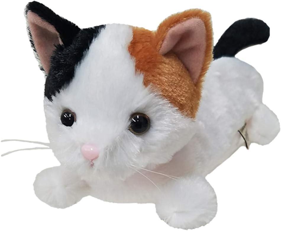 BestEverJapan - Estuche para bolígrafos de peluche, diseño de gato de concha de tortuga de Japón: Amazon.es: Oficina y papelería