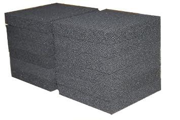 Sin Marca Nueva Estera de esponja de filtro de carbón de 12 piezas Pecera media ajusta Juwel Jumbo: Amazon.es: Hogar