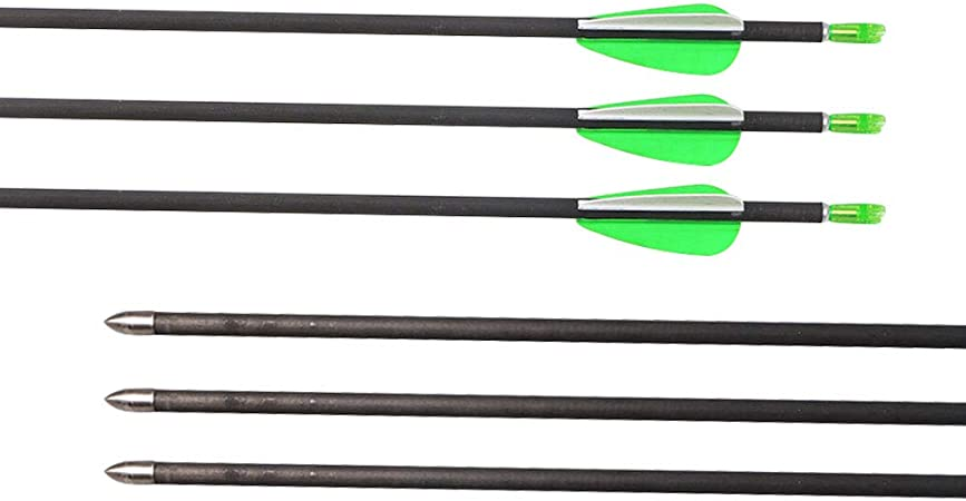 """31/"""" Carbon Arrow Spin600 Arrowhead Target Hunting Practise Recurve Bow Horsebow"""