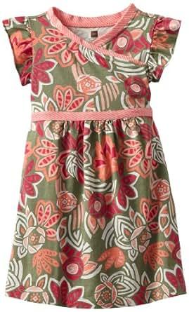 Tea Collection Little Girls' Wrap-Neck Dress, Juniper, 2