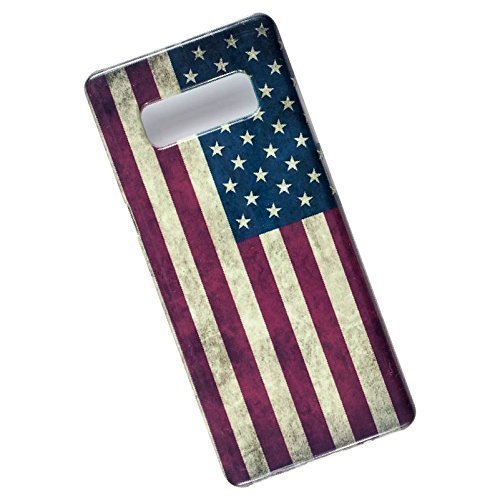 Slim Case for Samsung Galaxy Note 8. USA Flag.