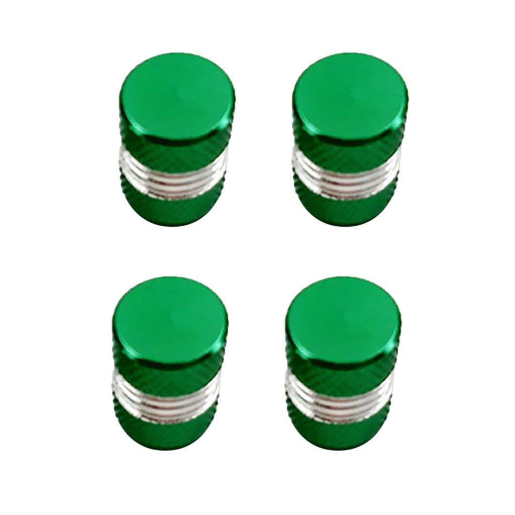 Verde Shiwaki 4 Piezas De Aluminio Del Neum/ático//La V/álvula De La Llanta//La Cubierta Del Puerto De Aire De La Rueda Provienen El Casquillo Para El Cami/ón Del Co