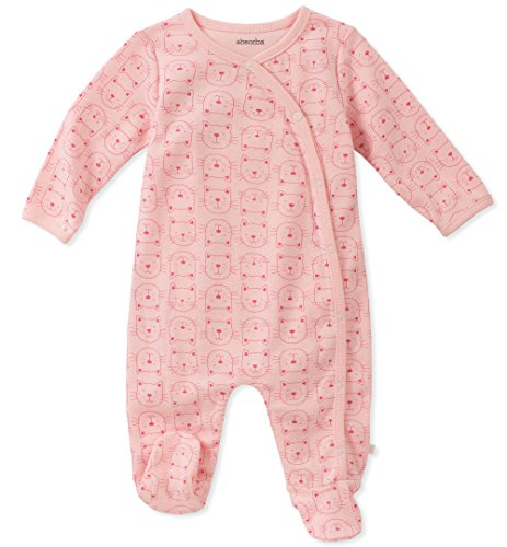 absorba Baby Girls Footie, Dusty Pink 0-3 Months