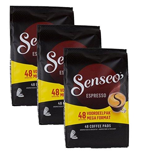 Douwe Egberts, Senseo, Espresso, 48 Coffee Pods, Intense and Corse, Triple - Pods Senseo Coffee Cappuccino