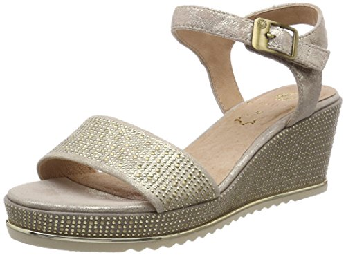 Be Natural WoMen 28341 Sling Back Sandals Gold (Pepper/Lt. Gold)
