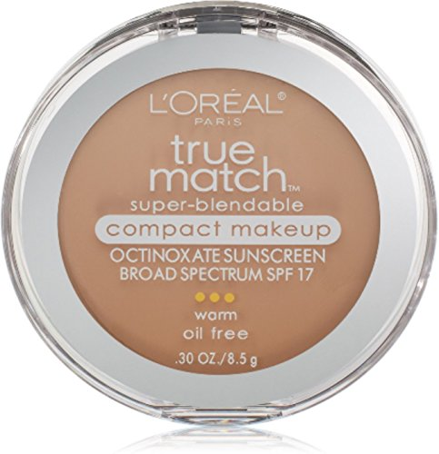 L'Oreal True Match Super-Blendable Compact Makeup, Nude Beige [W3], 0.30 oz (Pack of 3)