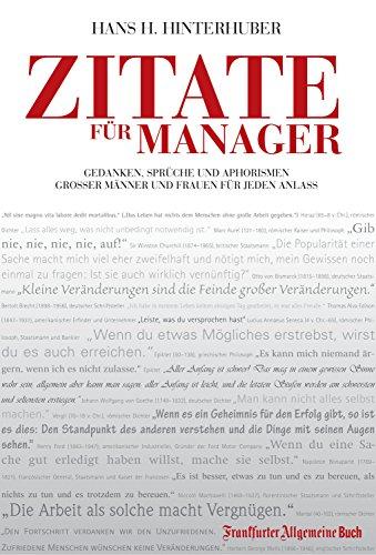 Amazoncom Zitate Für Manager Gedanken Sprüche Und