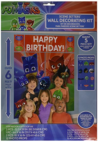 amscan PJ Masks Wall Poster Decorating Kit w/
