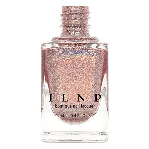 ILNP Pink Mimosa - Rosy Pink Holographic Nail Polish
