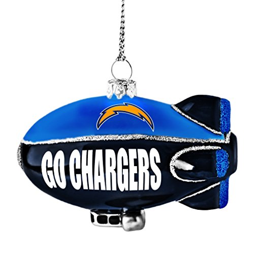 NFL San Diego Chargers Glitter Blimp Ornament