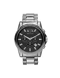 Armani Exchange AX2092 Mens Black Silver Banks Chronograph Smart Watch