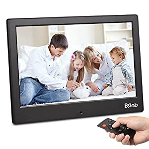 Digital Photo Frame Wifi P2P 8 Inch Digital Picture Frame Remote Control by Phone through App Bsimb Black M22