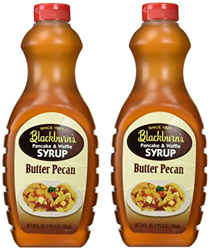 Blackburn's Pancake & Waffle Syrup, Butter Pecan Flavor, 24 Oz. (Pack of 2) (Butter Pecan)