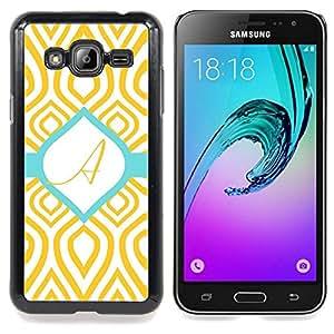 For Samsung Galaxy J3(2016) J320F J320P J320M J320Y Case , Un modelo del trullo del oro verde inicial - Diseño Patrón Teléfono Caso Cubierta Case Bumper Duro Protección Case Cover Funda
