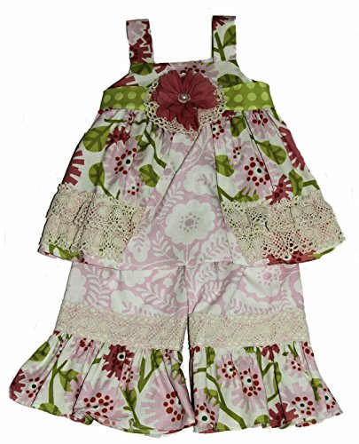 Peaches n' Cream Baby-Girls Crocheted Trim Dress and Capri (24 Months) (Crocheted Girls Dress)