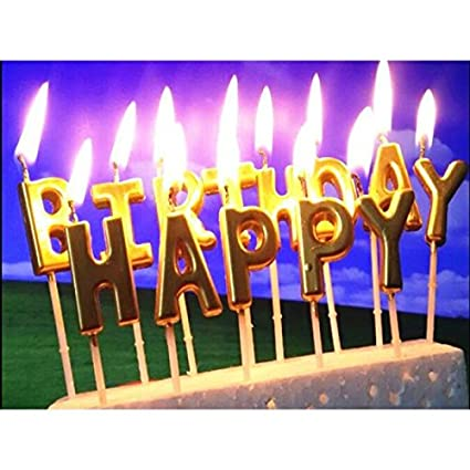 Image Unavailable Not Available For Color IzHotta Birthday Letters Cake Decoration Candles