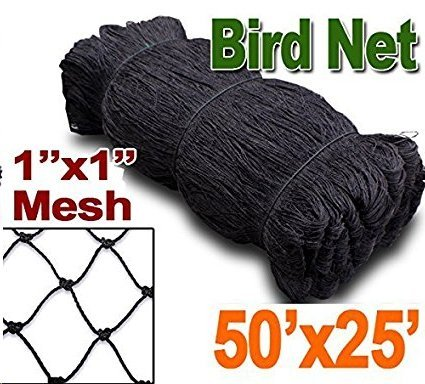 Baikalo 25' X 50' or 50' X 50' Net Netting for Bird Poultry Aviary Game Pens New 1