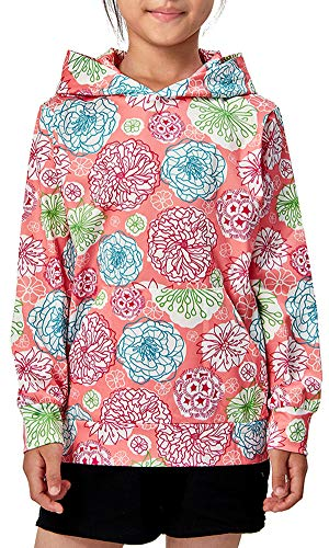 BFUSTYLE Little Girl Preschooler Floral Lightweight Hoodie Go to School Fit Hooded Sweatshirt