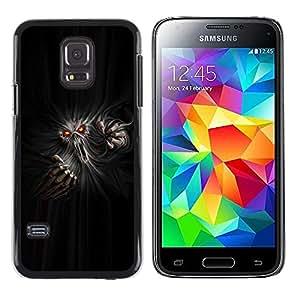 TECHCASE**Cubierta de la caja de protección la piel dura para el ** Samsung Galaxy S5 Mini, SM-G800, NOT S5 REGULAR! ** Monster Ghost Devil Red Eyes Hell Horror