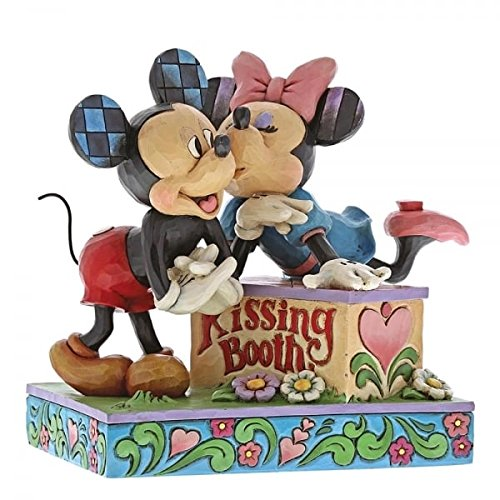 Disney Traditions by Jim Shore 6000970 Mickey & Minnie Kissing Booth -