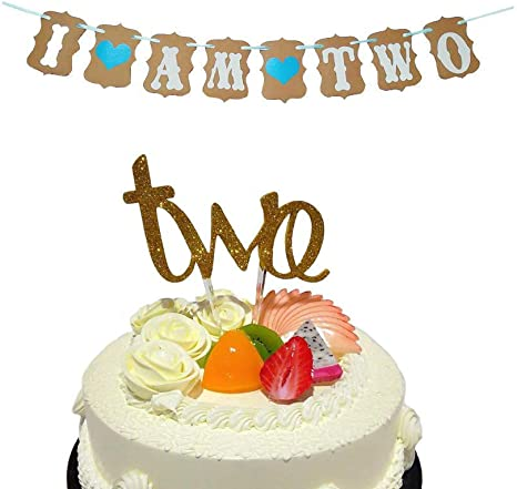 Terrific Amazon Com El Baby Boy 2Nd Birthday Decoration 2Nd Birthday Funny Birthday Cards Online Fluifree Goldxyz