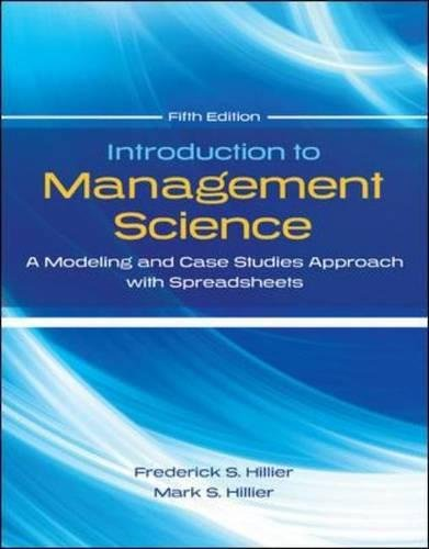 Introduction to Management Science with Student CD and Risk Solver Platform Access Card: A Modeling and Cases Studies Approach with Spreadsheets (Access Platform)
