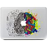 """iCasso Left and Right Brain Vinyl Decal Sticker Skin for Apple Macbook Pro Air Mac 13"""" inch / Unibody 13 Inch Laptop (#3)"""