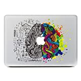 "Image of iCasso Left and Right Brain Removable Vinyl Decal Sticker Skin for Apple Macbook Pro Air Mac 13"" inch / Unibody 13 Inch Laptop"
