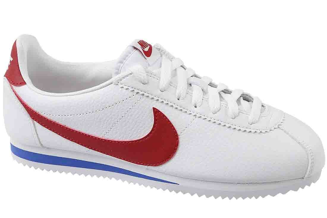 Nike Womens Classic Cortez Leather White/Varsity Red Casual Shoe 8.5 Women US