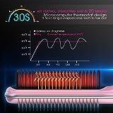 Hair Straightener Brush, Rifny Heated Hair