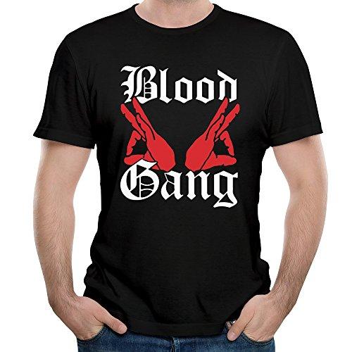 KHEN Funny Blood Gang Gesture Art Logo Gunfight Tshirts Men -