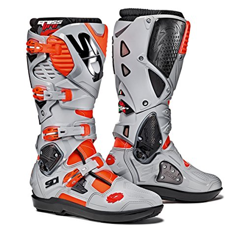 (Sidi Crossfire 3 SRS Off Road Motorcycle Boots Red Flo/Ash US11/EU45 (More Size Options))