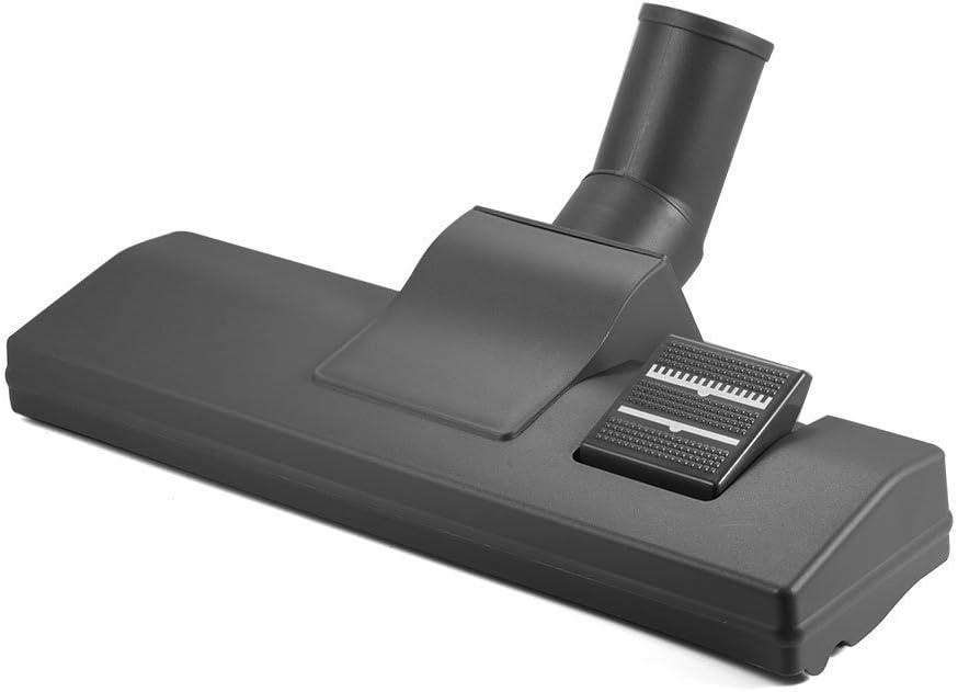ZXX Cepillo para Aspirador de diámetro de 32 mm, Boquilla enroscable con cerdas de Verdadero Pelo de Caballo para Suelo de parquet, Color Negro