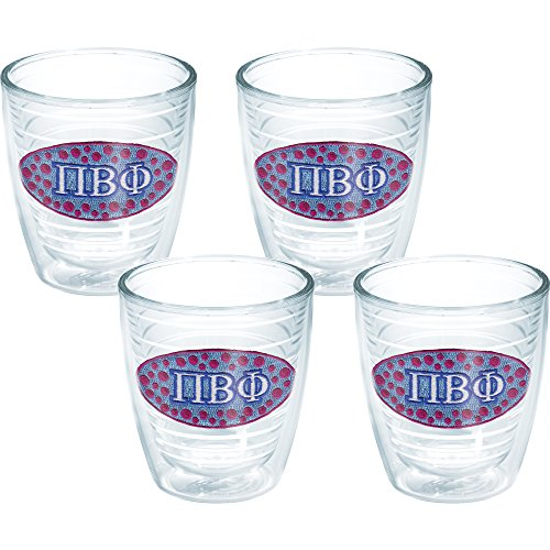 Tervis Phi Beta Fraternity Tumbler (Set of 4), 12 oz, Clear