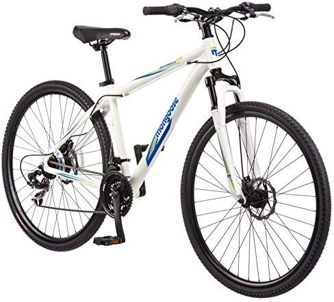 Mongoose Bicicleta híbrida Banish 2.0 para Hombre, Color Blanco ...