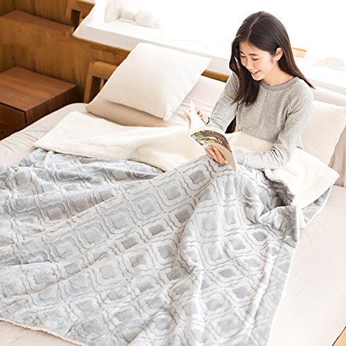 GX&XD Heated Blanket,Electric Throw Heating Cushion Heating Cushion Warm Blanket Heated Electric Blanket Office Electric Mattress-B 150x180cm(59x71inch)
