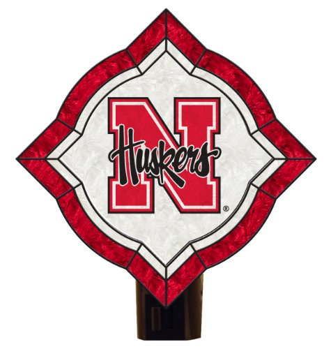 NCAA Nebraska Cornhuskers Vintage Art Glass Nightlight
