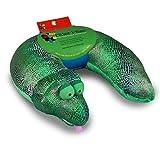 Critter Piller Kid's Neck Pillow, Green Snake
