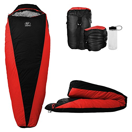 Outdoor Vitals OV-Light 20-35 Degree Backpacking Sleeping Bag, Lightweight and Compact for Hiking and Camping, Ultralight Mummy Bag Design with Premium Insulation for 3 Seasons Includes ()