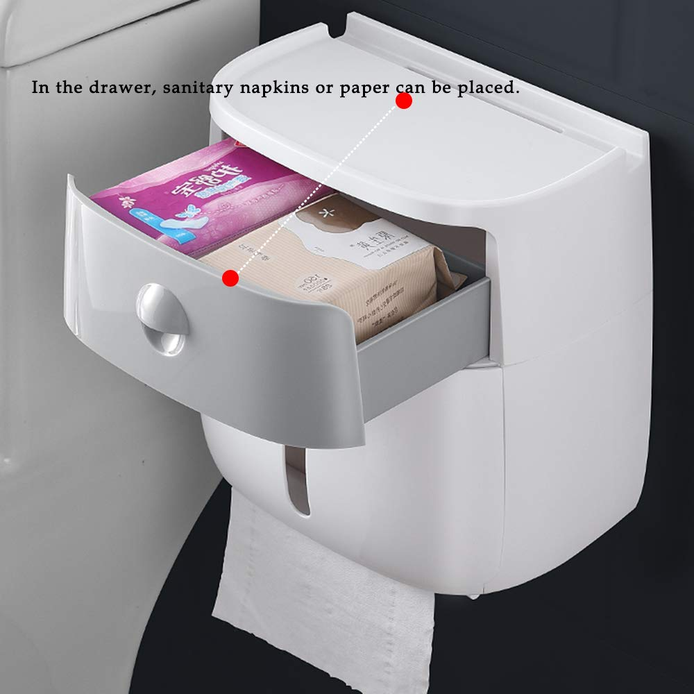 da parete con ventosa autoadesivo Portarotolo di carta igienica per bagno e cucina Ecoco