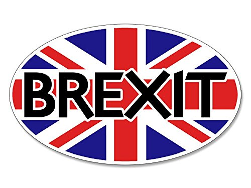 American Vinyl Oval Brexit Sticker (Britain exit Europe EU Union)
