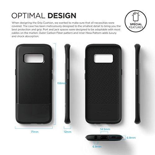 buy online 2afc1 83028 elago Galaxy S8 Case [Grip Cushion][Black] - [Device Fitting ...