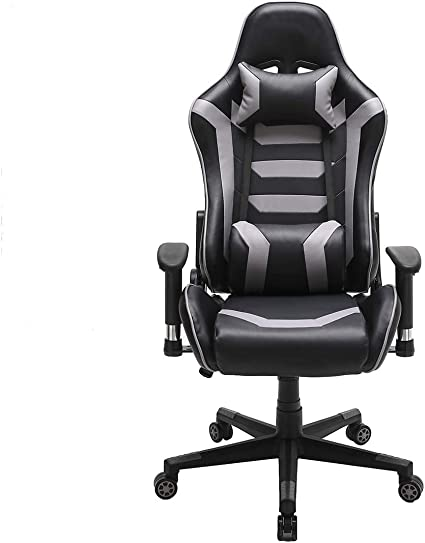 Ergonomic Chair Gaming Chair Leather Swivel Recliner Computer Desk Chair Black