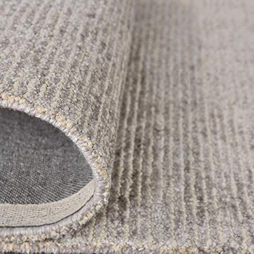 Rivet Contemporary Striated Jute Area Rug, 7 5 x 5 3 , Oatmeal